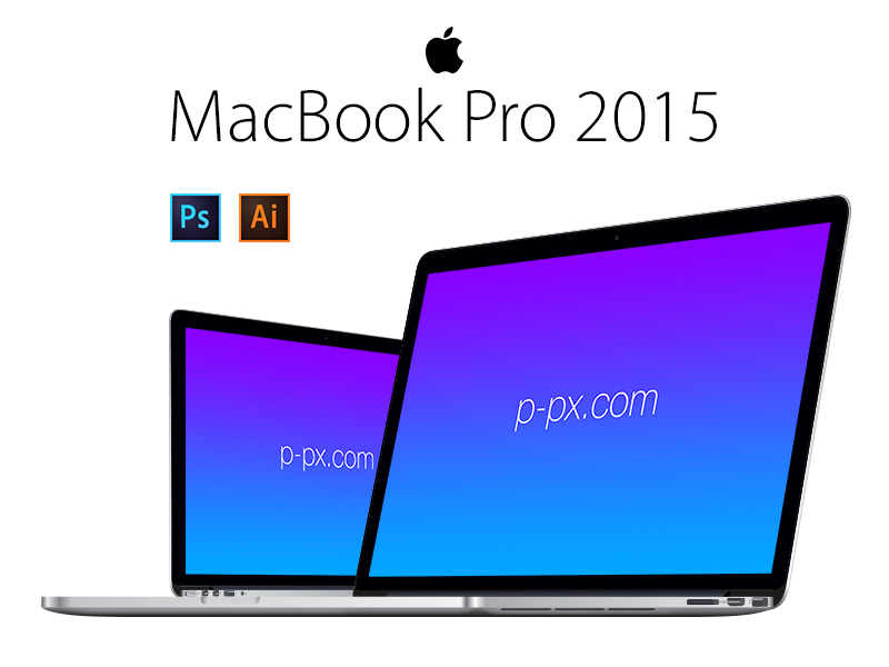 800x600 Macbook Pro 2015 Angled View Psd + Ai Free Vector Template By