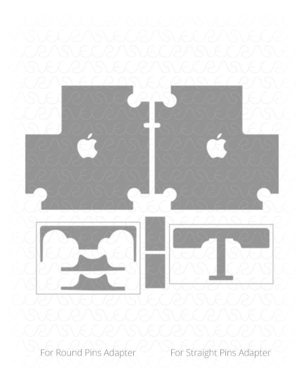 600x750 Apple 87w Usb C Power Adapter For 15 Inch Macbook Pro Skin Vector