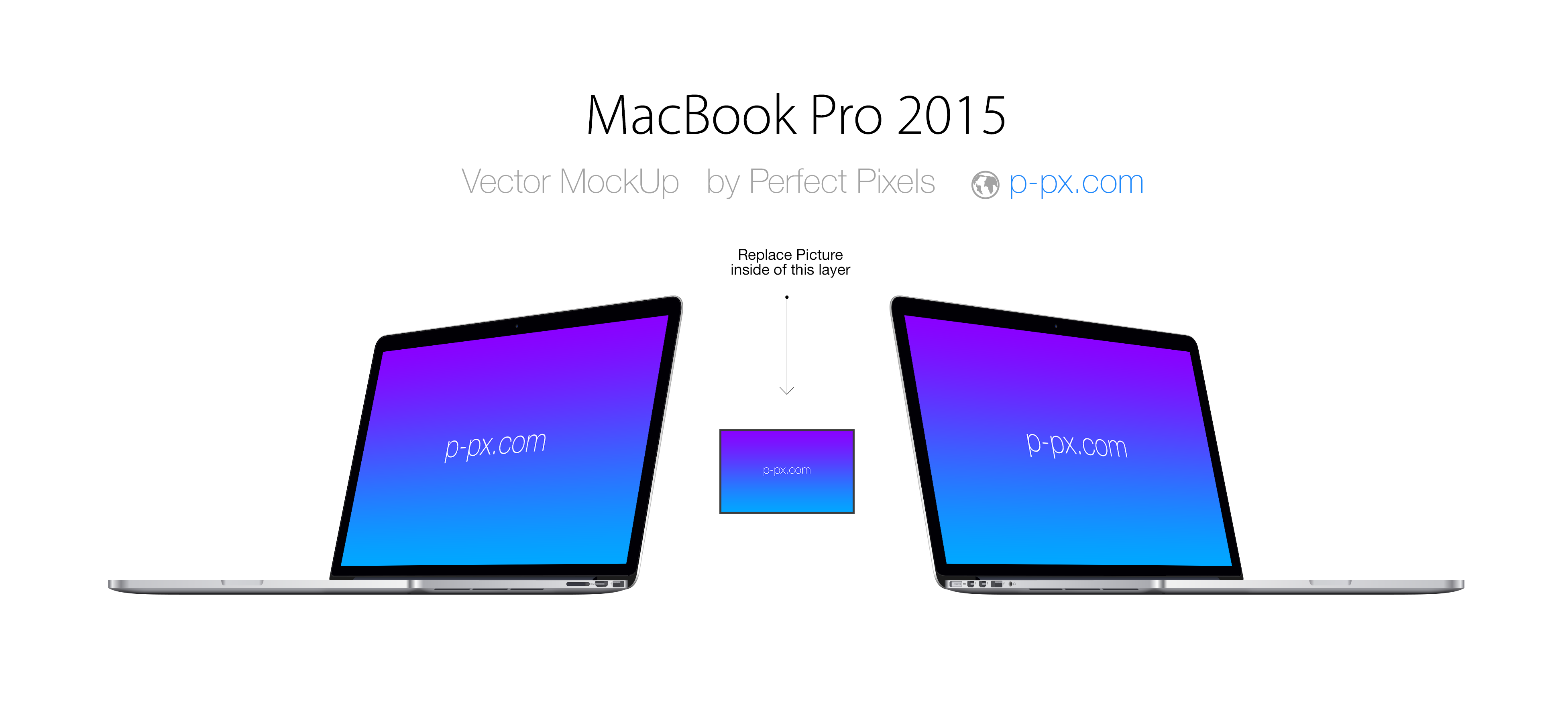 3906x1746 Macbook Pro 2015 Angled View Psd + Ai Vector Template. Perfect
