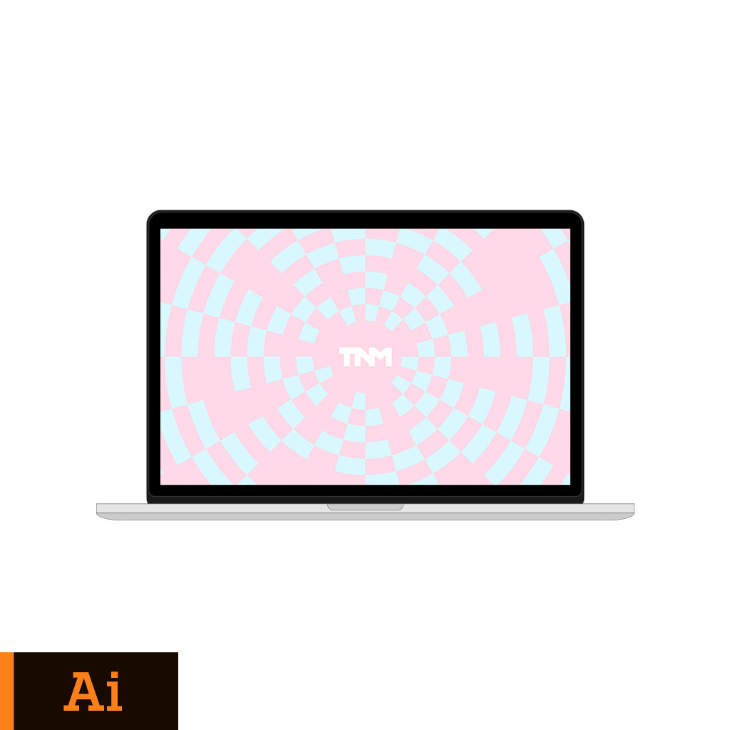 1024x1024 Flat Vector Mockup Illustrator Template For Apple Macbook Pro 15