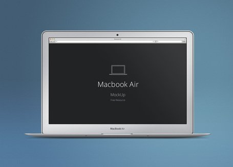 455x326 Free Macbook Air Psd Mockup Clipart And Vector Graphics