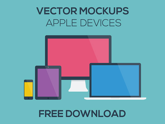 550x413 Free Vector Mockups Apple Ios Devices Ian Barnard