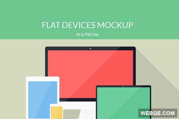 600x400 Free Flat Devices Imac, Ipad, Iphone, Macbook Vector Mockup Webqe