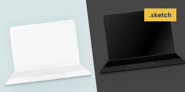 642x321 The New Macbook Minimalist Vector Mockup