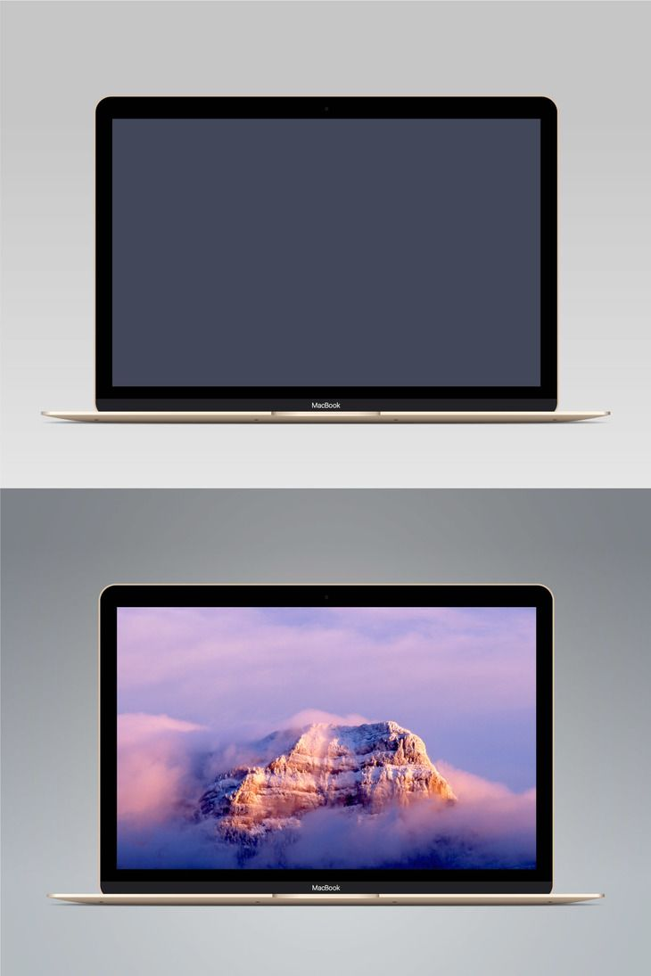 730x1095 Vector Macbook Gold Preview Mockups Macbook And Mockup