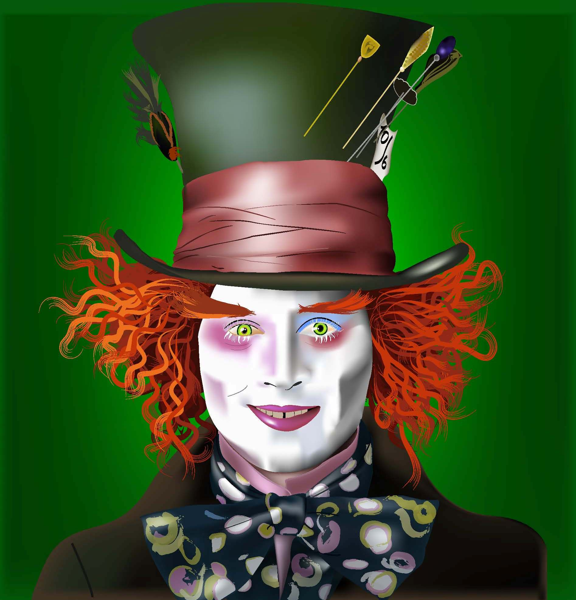 1894x1972 Johnny Depp Mad Hatter Makeup
