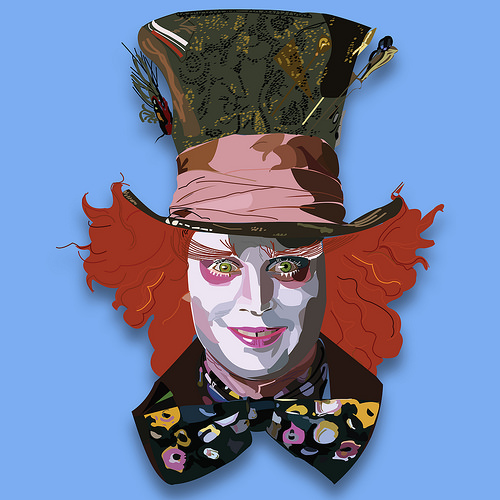 500x500 Mad Hatter Vector Art