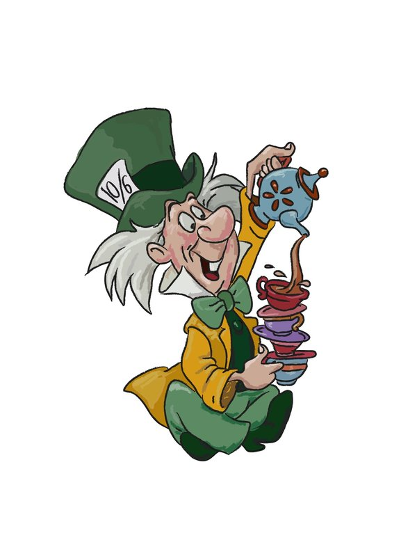 600x776 Mad Hatter Hat Clipart