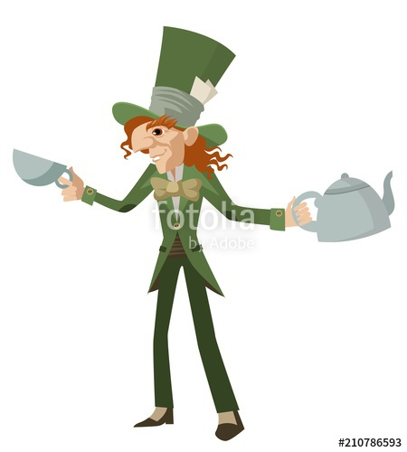 450x500 Mad Hatter With Teapot Stock Image And Royalty Free Vector Files