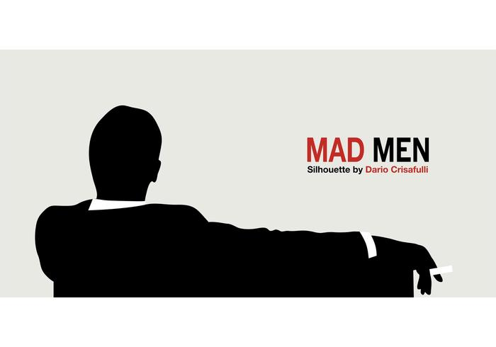 700x490 Mad Men Silhouette Vector