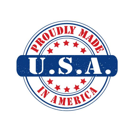 577x577 Made In Usa Logo Design Vector, Royalty Free