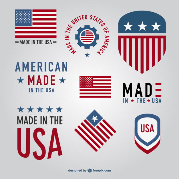 626x626 Made In Usa Labels Collection Vector Free Download