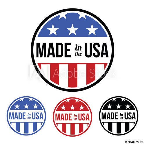 500x500 Made In The Usa Sticker