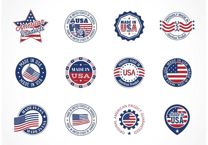 700x490 Free Vector Made In Usa Labels
