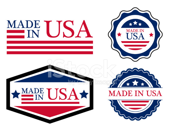 563x439 Made In Usa Label Vector Stock Vector