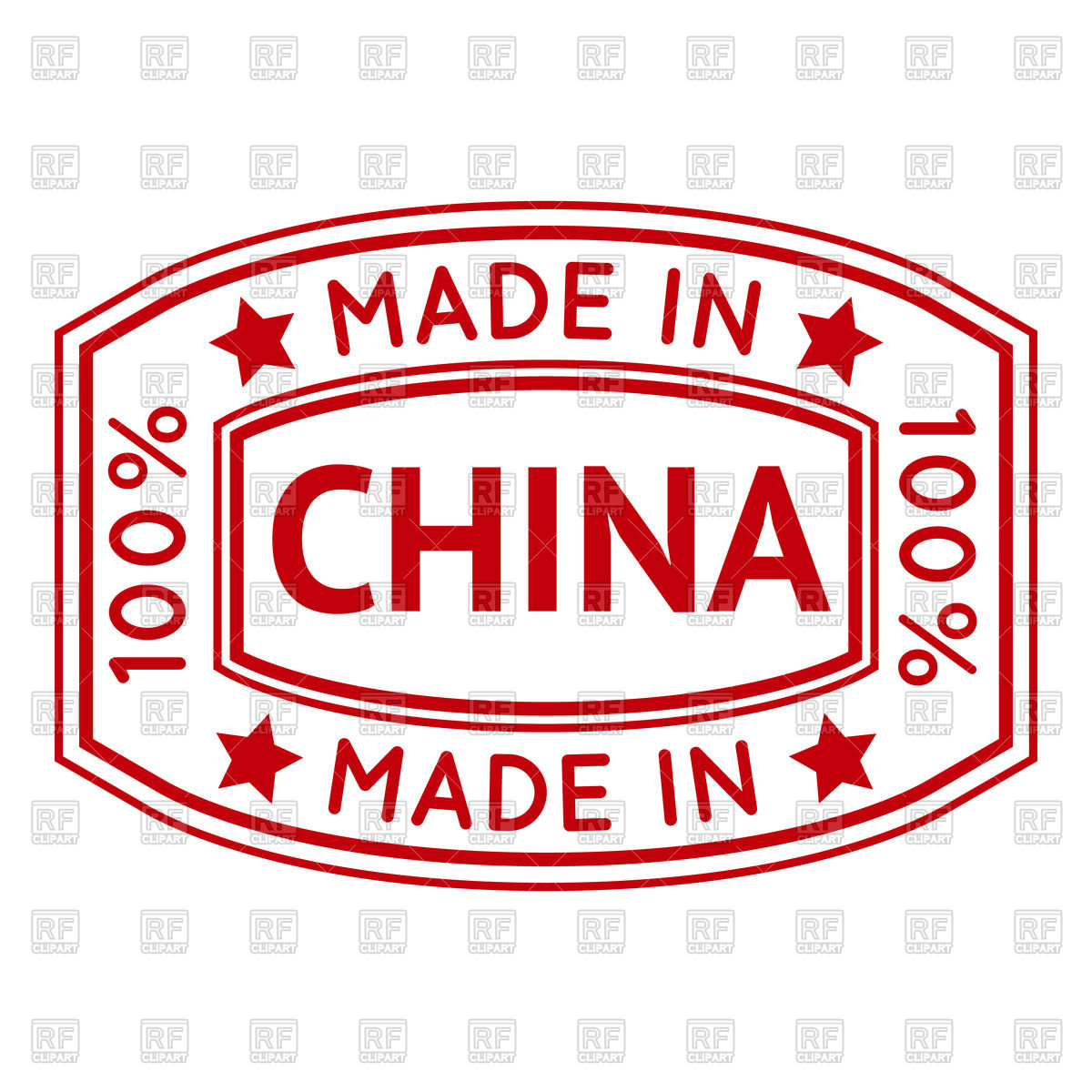 1200x1200 Made In China Red Stamp Vector Image Vector Artwork Of Objects
