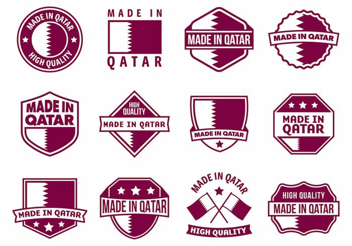 700x490 Free Made In Qatar Badges Vector