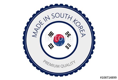 500x339 Made In Korea Seal, South Korea Flag (Vector Art) Stock Image And