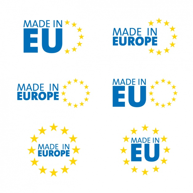 626x626 Made In Europe, Symbols Vector Free Download