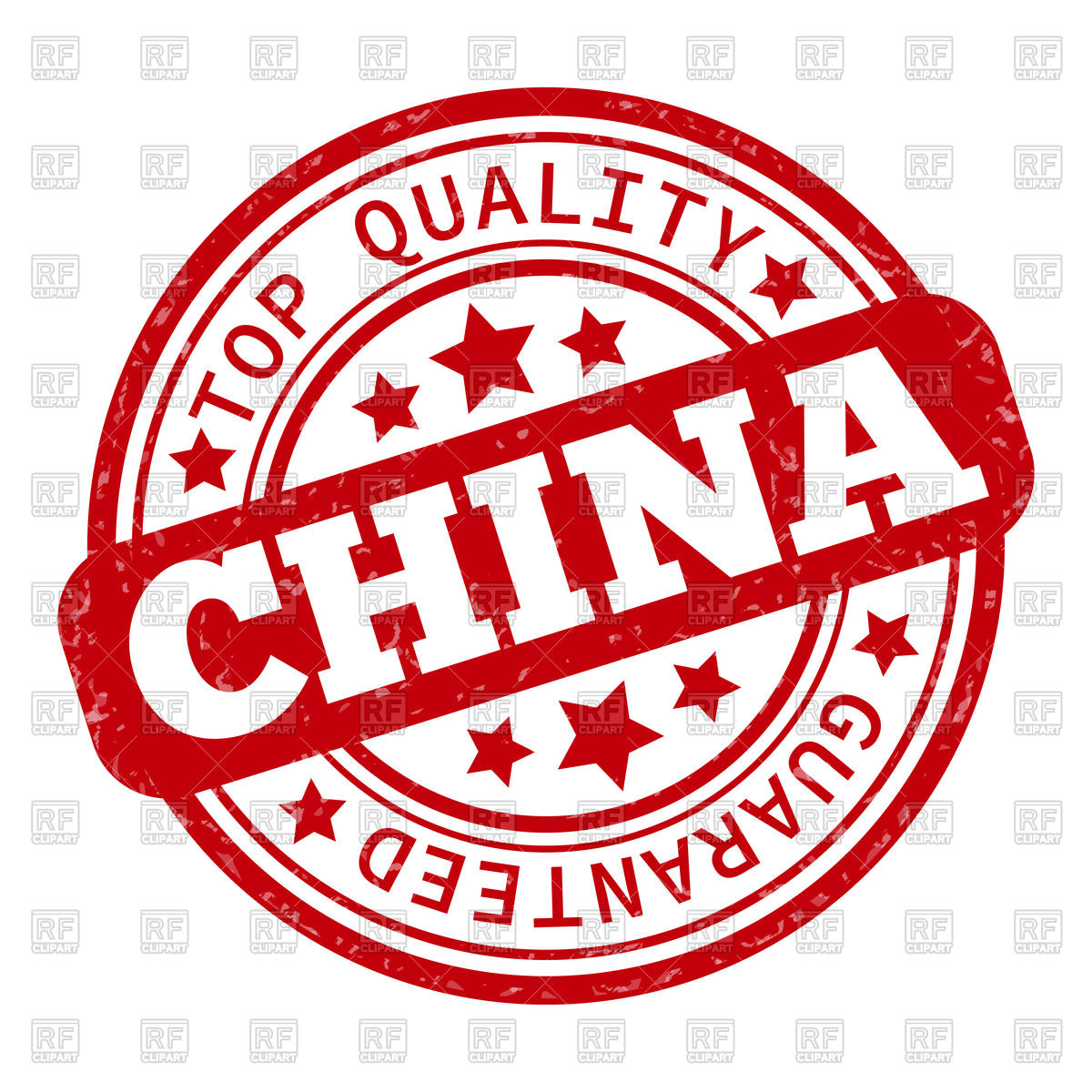 1200x1200 Round Rubber Stamp Made In China Vector Image Vector Artwork Of