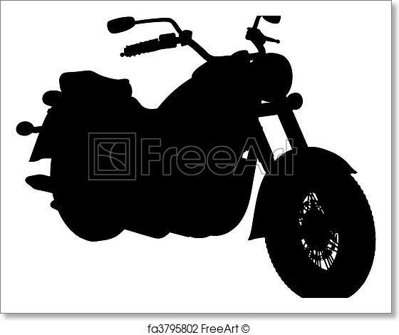 560x470 Free Art Print Of Motorbike (Vector). Motorbike Made In Vector