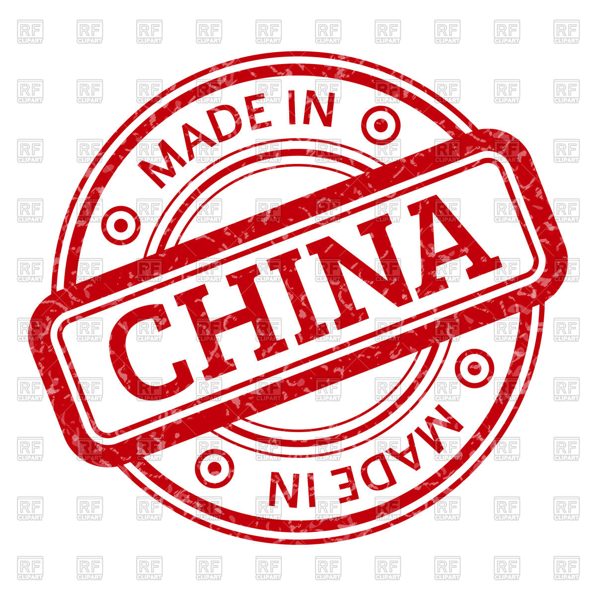 1200x1200 Round Stamp Made In China Vector Image Vector Artwork Of Objects