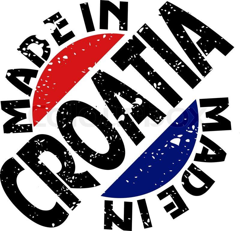 800x771 Vector Label Made In Croatia Stock Vector Colourbox