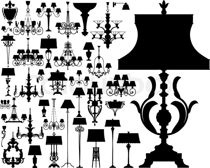 800x640 Lamps Set Made In Vector Stock Vector Colourbox