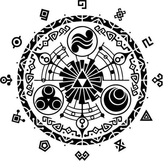 570x563 Legend Of Zelda Magic Circle Vector File Etsy