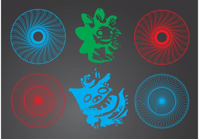 700x490 Magic Circle And Graphic Icons Set