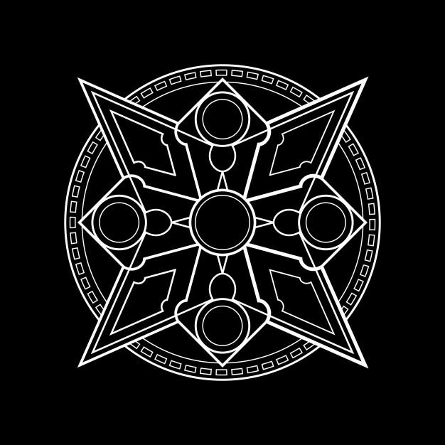 626x626 Magic Circle Shuriken Vector Premium Download