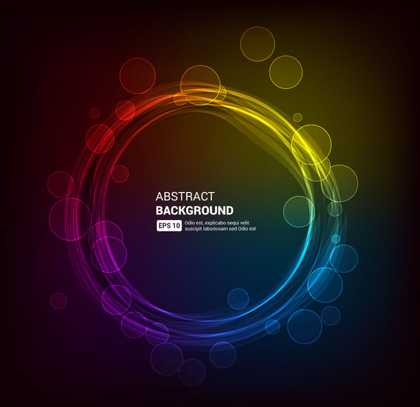 600x581 Magic Circle Abstract Background Free Vector In Adobe Illustrator