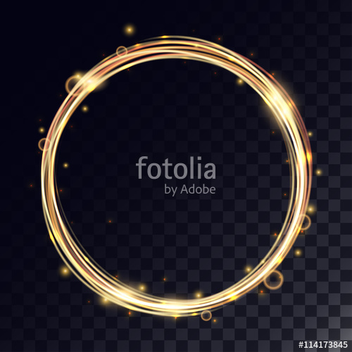 500x500 Vector Magic Circle With Light Effects Stock Image And Royalty