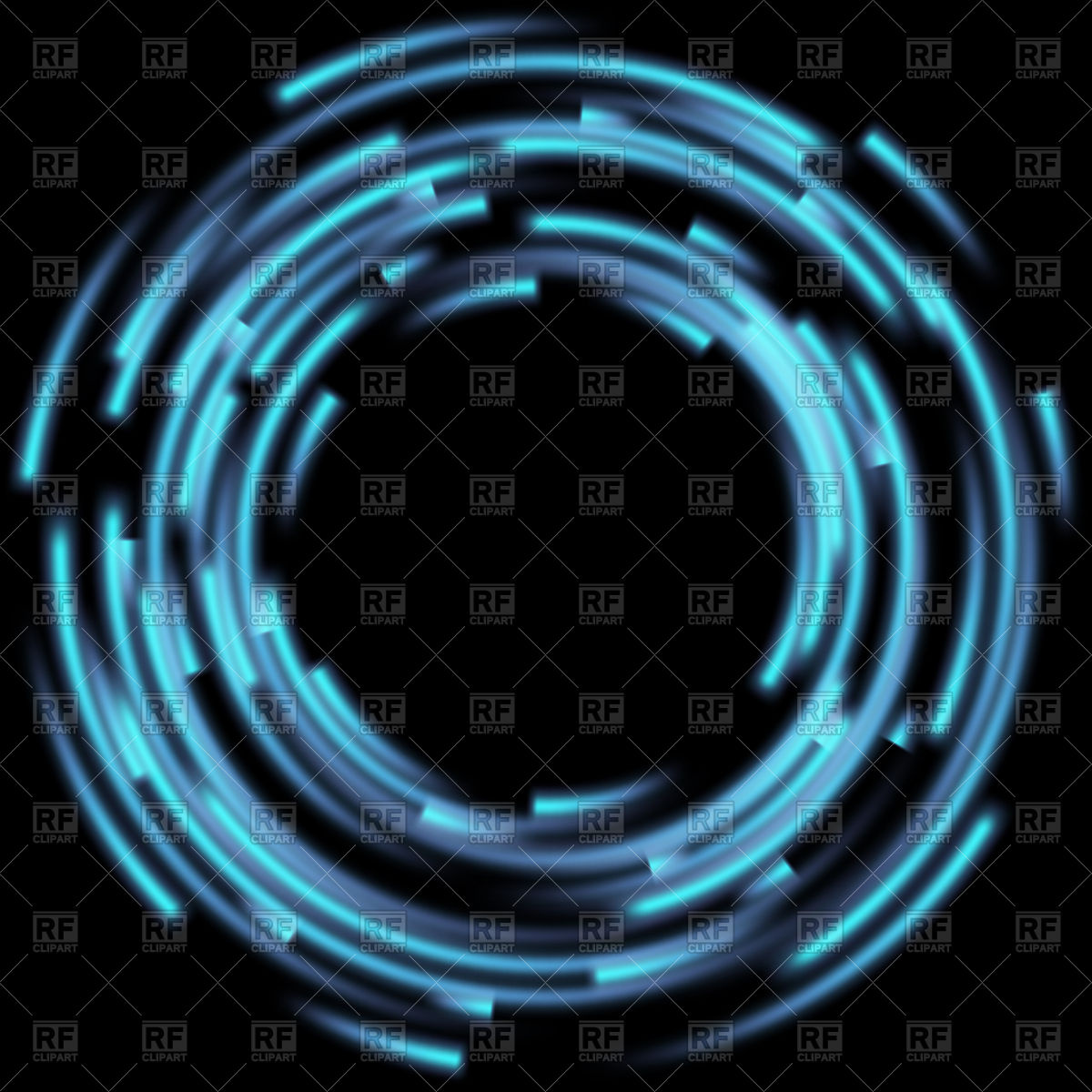 1200x1200 Blue Abstract Background With Blurred Magic Neon Circle Vector
