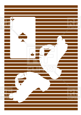 283x400 Playing Cards And Hand Magician Vector Image Vector Artwork Of