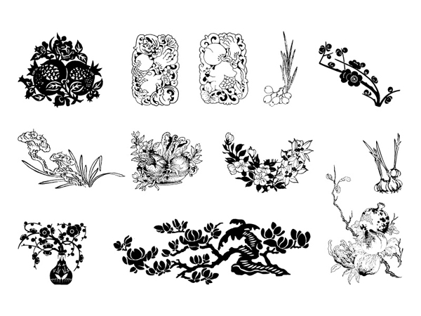 600x450 Plum, Pomegranates, Magnolia Vector Free Vectors Ui Download