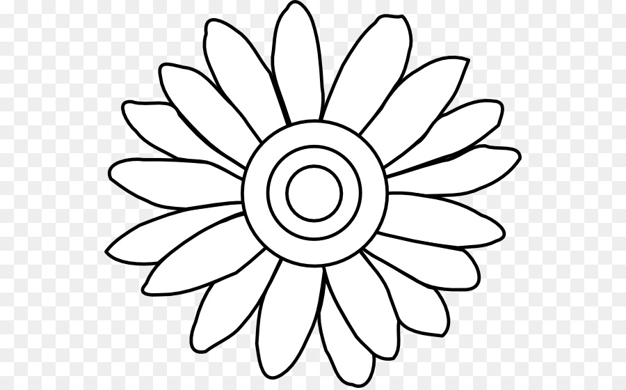 900x560 Flower Drawing Common Daisy Clip Art