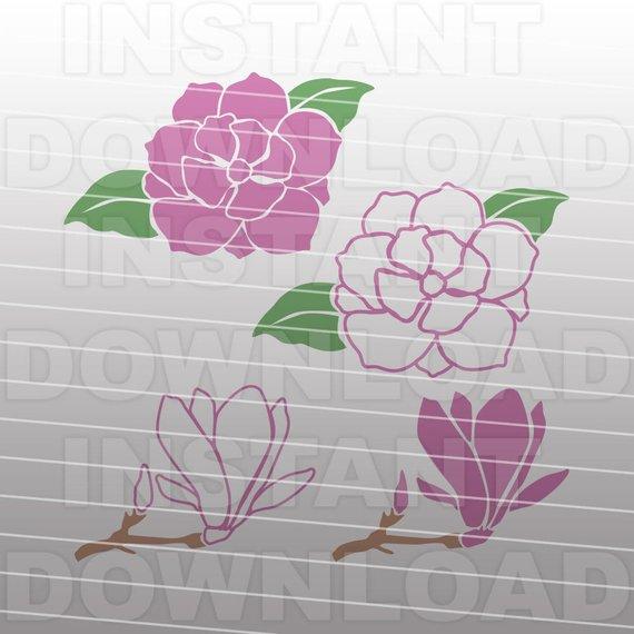 570x570 Magnolia Flower Gardening Svg File Vector Art File For Etsy