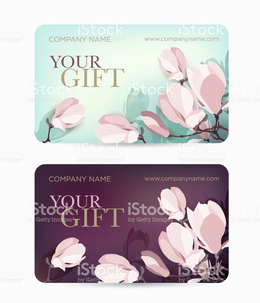 880x1024 Magnolia Gift Card Best Gift Card With A Magnolia Flower Stock