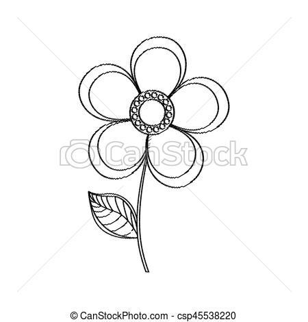 450x470 Magnolia Flower Decoration Sketch Vector Illustration Eps 10.