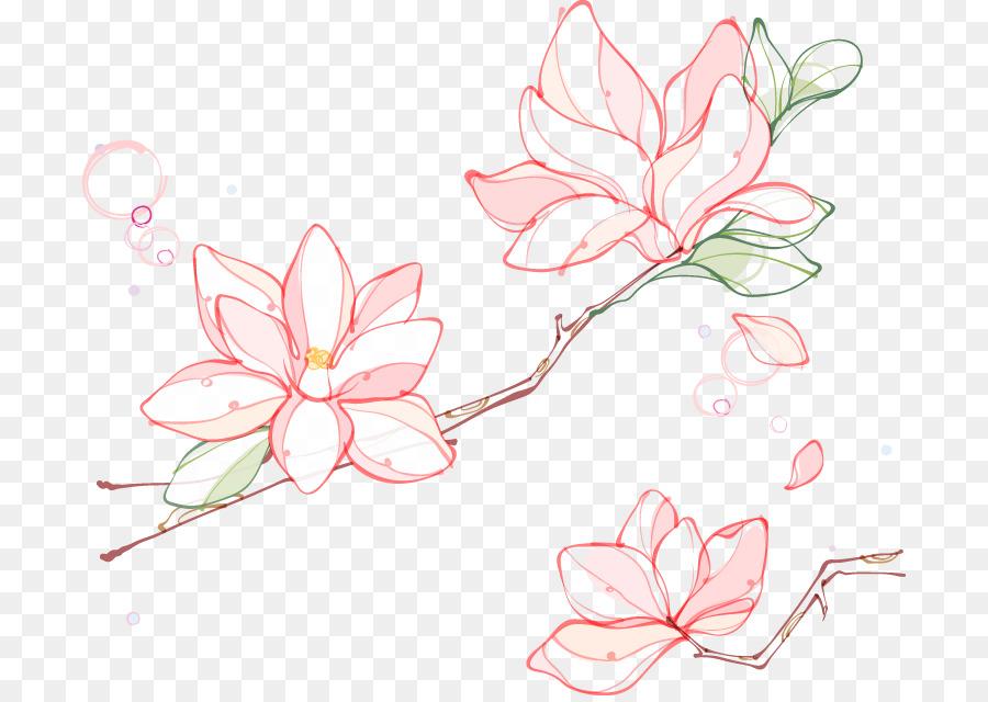 900x640 Euclidean Vector Flower Southern Magnolia