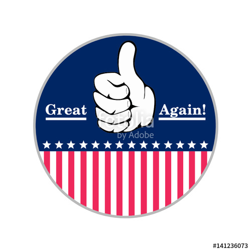 500x500 Make America Great Again Stock Image And Royalty Free Vector