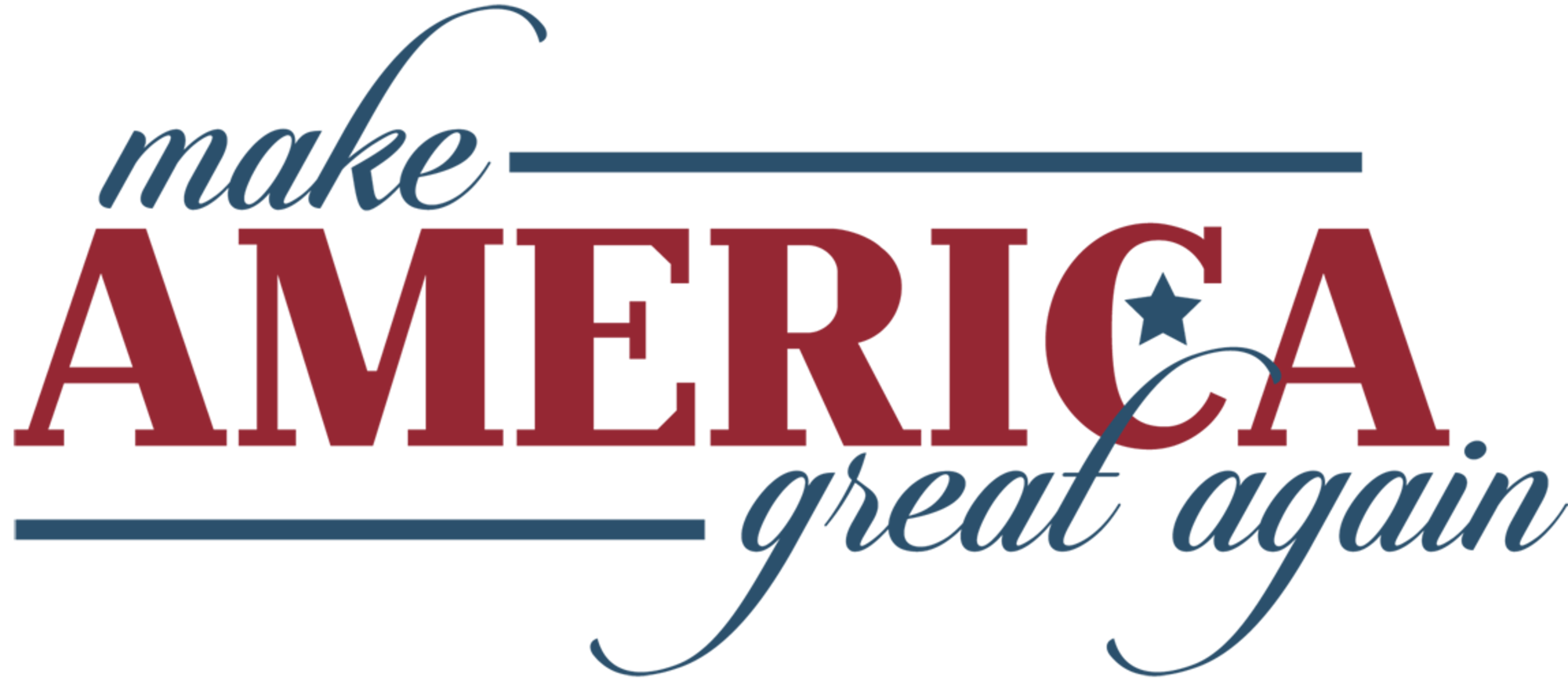 2000x870 Results For Make America Great Again Logo Vector