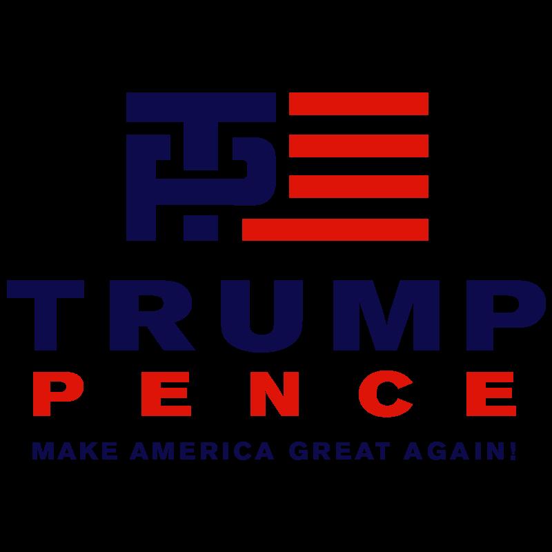 800x800 Trump Pence Make America Great Again Vector Logo Free Vector