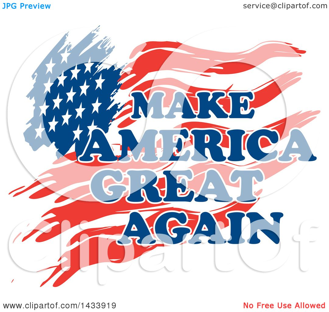 1080x1024 Clipart Of Make America Great Again Text Over A Flag