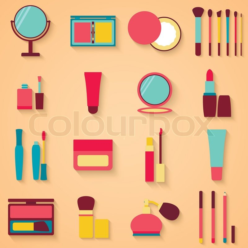 800x800 Set Of Beauty And Cosmetics Icons. Makeup Vector Eps 10
