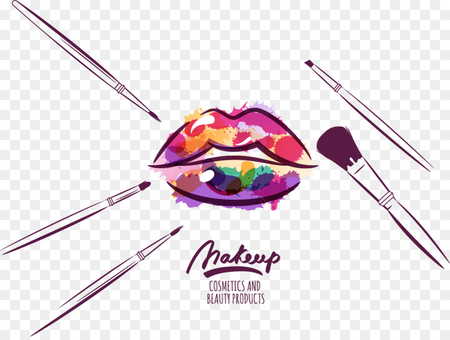 900x680 Cosmetics Makeup Brush Make Up Artist Illustration