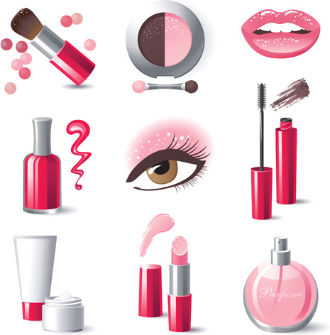 465x472 Creative Cosmetics And Makeup Vector Icons Free Vector In