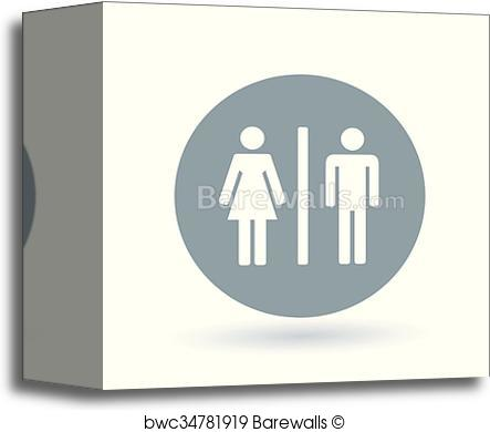 443x390 Canvas Print Of Male And Female Icon. Gender Sign. Toilet Symbol