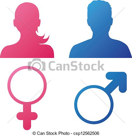 450x465 User Behavior (Gender Icons) Vector Illustration Of Female And